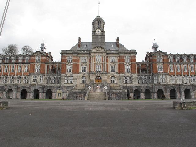 Central facade and clock tower, Britannia Royal Naval College