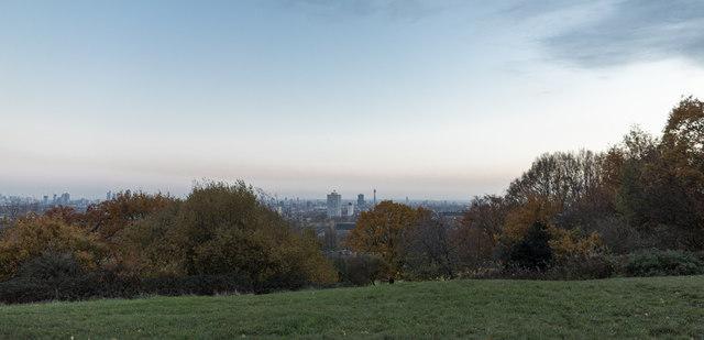 Autumn Colours near Parliament Hill, Hampstead Heath
