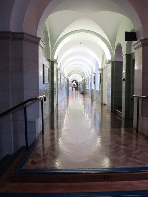 Long corridor, Britannia Royal Naval College