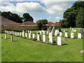 SK9764 : War Graves in Waddington churchyard by Adrian S Pye