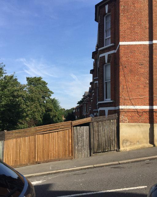 Garden fence, Jasper Road, Crystal Palace, south London