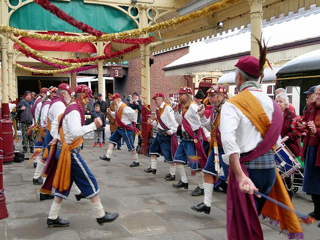 Morris Men at Bolton Street Station