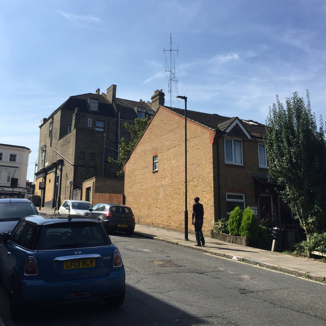 South end of Jasper Road, Crystal Palace, south London