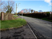 SS9086 : Start of the 30 zone at the southern edge of Bettws by Jaggery