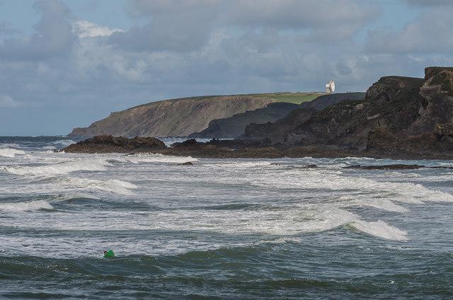 Surf off Summerleaze Beach