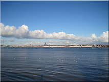 SJ3589 : Across the Mersey to Liverpool by Sue Adair