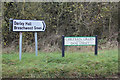 TL1319 : Roadsigns on Chiltern Green Road by Adrian Cable