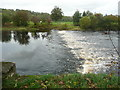 NS4323 : Weir on the River Ayr by Humphrey Bolton