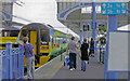 TG2308 : Norwich station, scene at the barriers 2006 by Ben Brooksbank