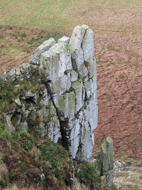 Hadrian's Buttress by Crag Lough