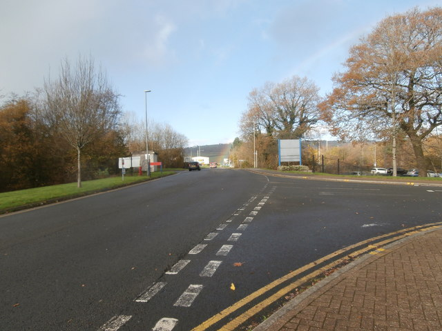 Looking towards the Ynysmaerdy roundabout from the Royal Glamorgan Hospital