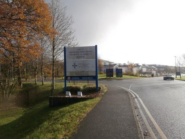 Entrance to the Royal Glamorgan Hospital