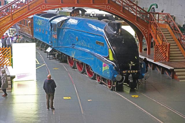 Admiring the World's fastest steam locomotive