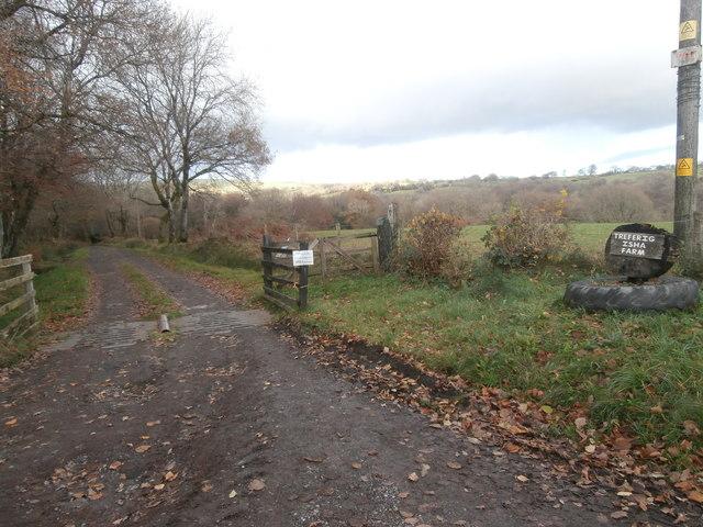 Entrance to track to Treferig Isha Farm