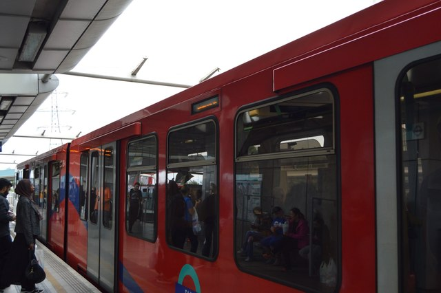 DLR train at Canning Town