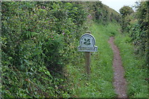SX4948 : National Trust sign by N Chadwick