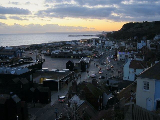 Twilight at Hastings Old Town