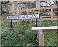 TL1316 : Bower Heath Lane sign by Adrian Cable