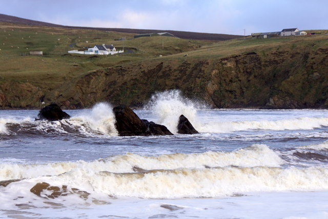 Waves at Stabba, Burrafirth