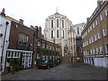 TQ2881 : St James's Roman Catholic Church from Manchester Mews by Marathon