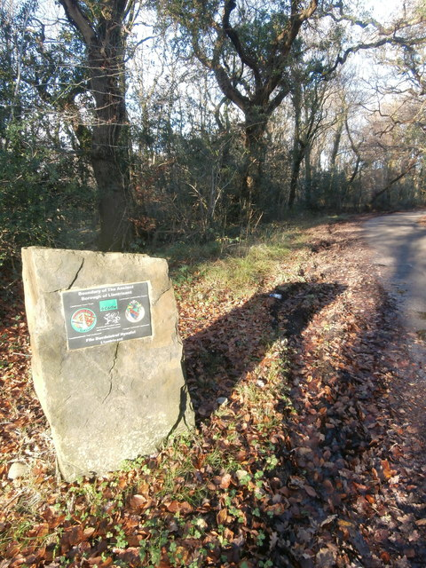 Boundary stone of the Borough of Llantrisant, Castellau Rd