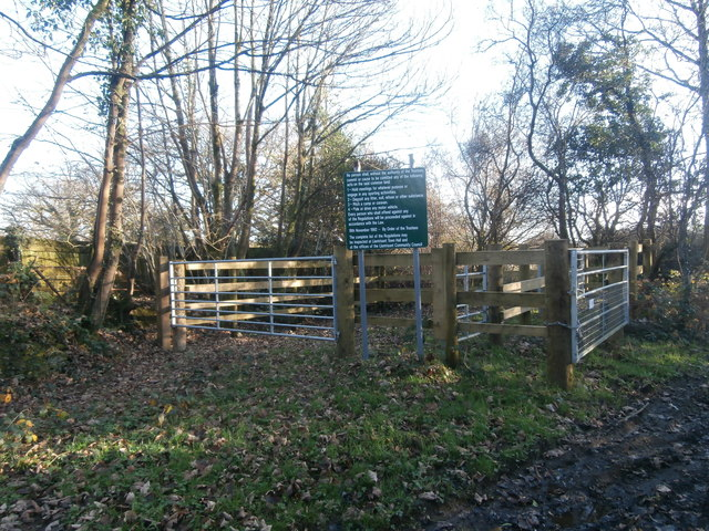 Boundary of Llantrisant Common