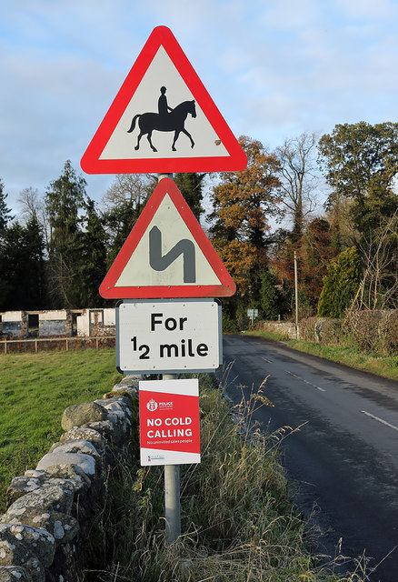 Road signs at Nisbet