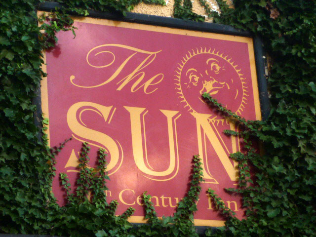 Sign for The Sun, Coniston