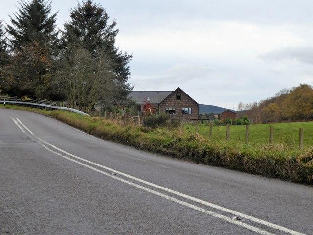 Bend left in Slug Road (A957); No Overtaking