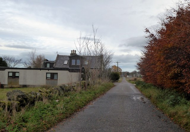 Minor road; by former inn at Lochton