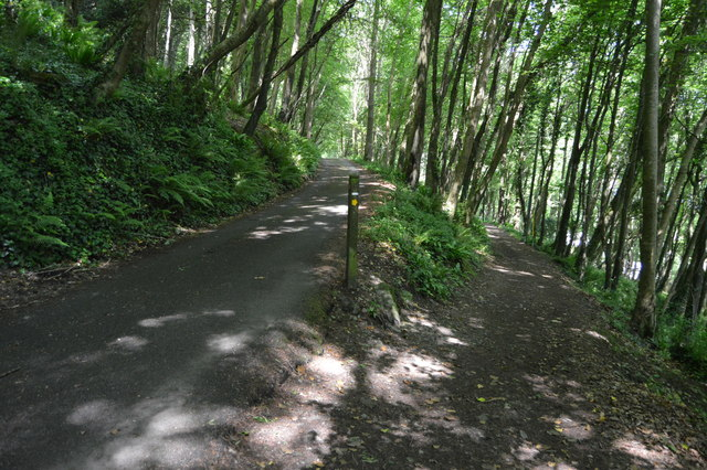 Footpath junction, South West Coast Path