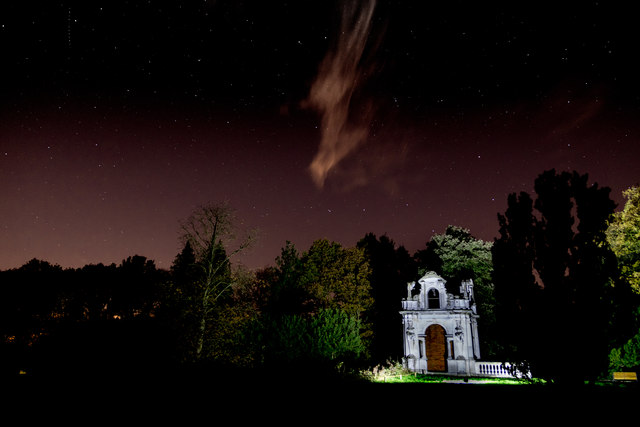 Copped Hall Garden at Night