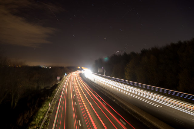 M25 at Night - Looking West