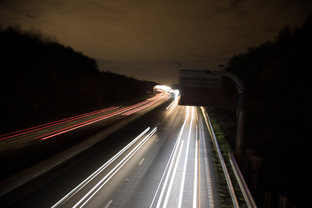 M25 at Night - Looking East