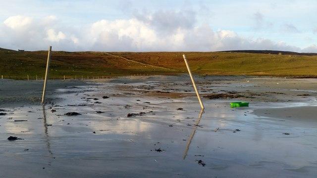 Poles on Easting beach