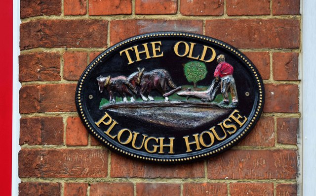 The former Plough (2) - sign, Priestend, Thame, Oxon