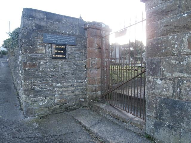 Entrance to Penuel Cemetery, Llantrisant