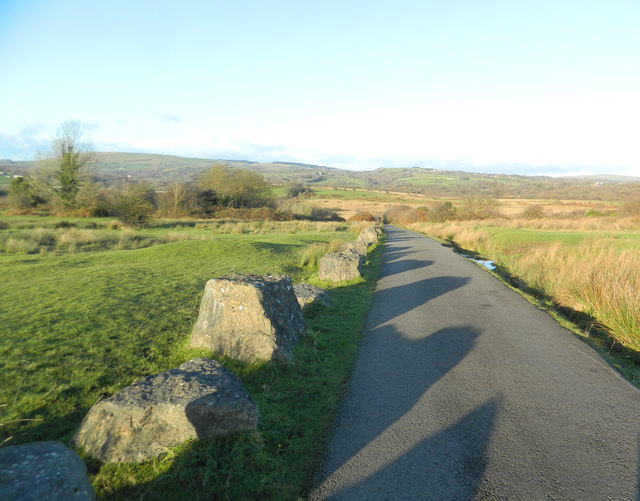 The road across Llantrisant Common