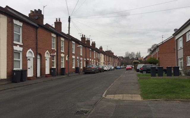West side of Hill Street, Emscote, Warwick