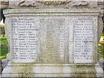 TM5286 : Names of the fallen on the Kessingland war memorial 1 by Helen Steed