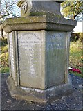 TM4077 : Names of the fallen on the Holton War Memorial 3 by Helen Steed