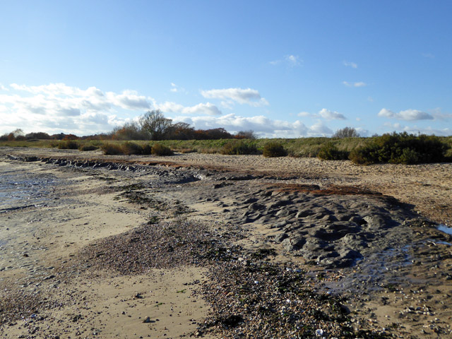 Beach with clay outcrop, East Mersea