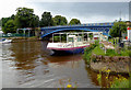 SO8071 : Disused pleasure boat on the River Severn at Stourport by Roger  Kidd
