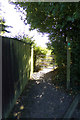TM3569 : Footpath to the A1120 Badingham Road by Adrian Cable
