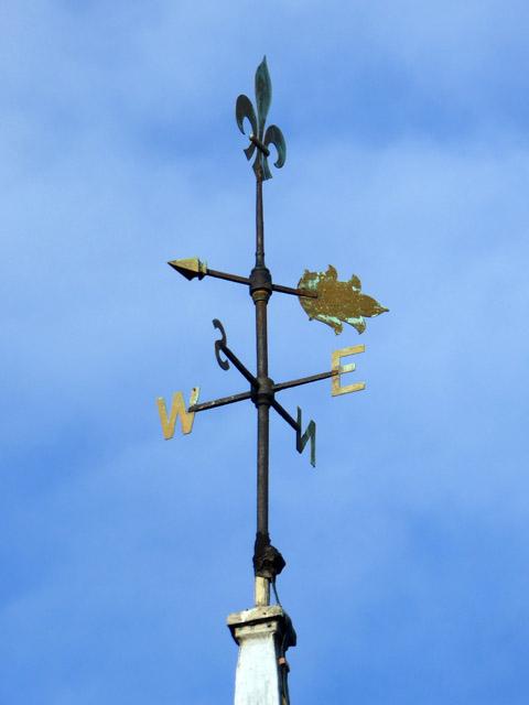 Weather vane, Layer Breton church