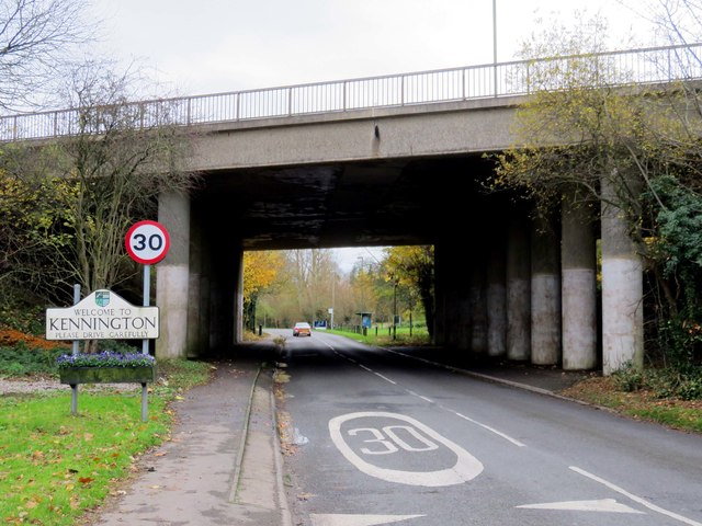 Kennington Road runs under the Ring Road