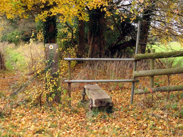 A stile on a footpath