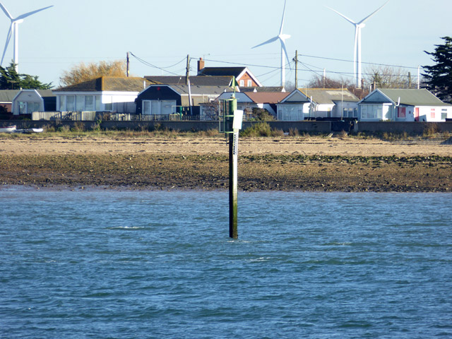 Beacon on approach to Brightlingsea Harbour