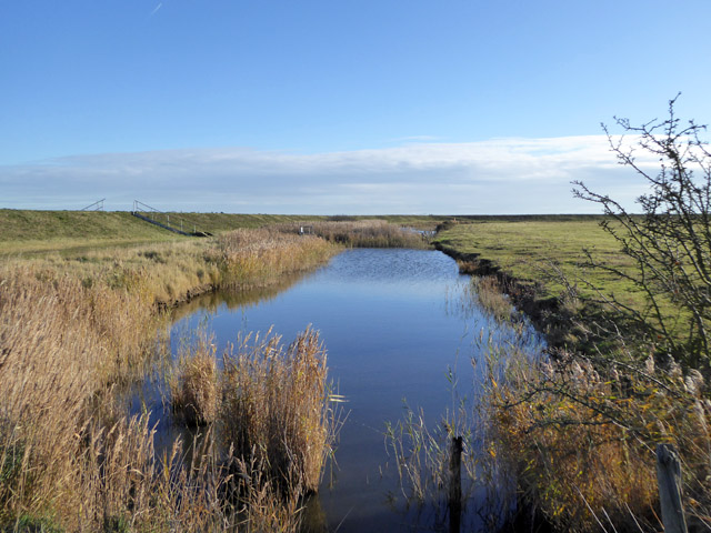 Borrow dyke,  East Mersea