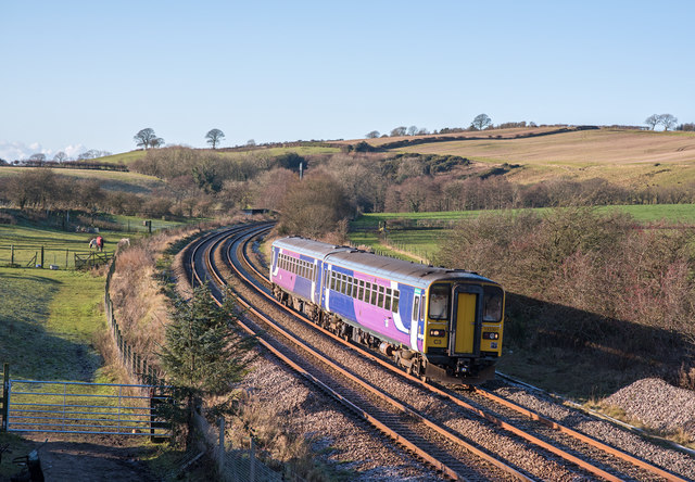 Trains at Bullgill, Cumbria - November 2017 (1)